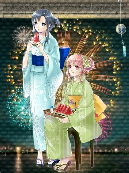 【2023祭】浴衣と花火と西瓜