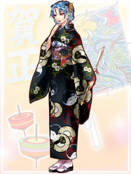 【2024お正月】黒薔薇の女王の振袖姿